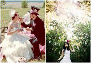 Alicja w krainie czarów - bajkowy motyw przewodni ślubu i wesela
