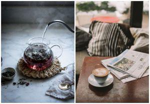 herbata lub kawa zamiast kwiatów na ślub