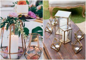 geometryczne świeczniki