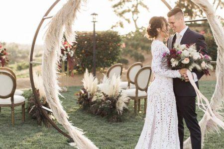 Trawa pampasowa na weselu