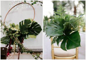 Monstera w dekoracjach ślubnych i weselnych