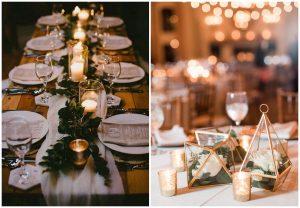 złoto i zieleń na weselu