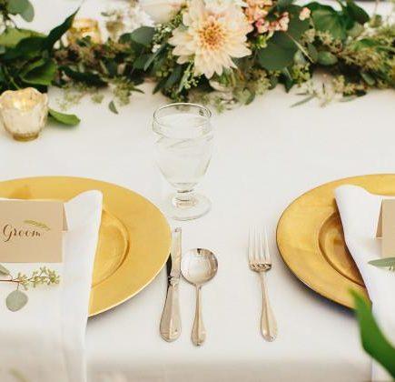 Złoto i zieleń jako kolory przewodnie wesela