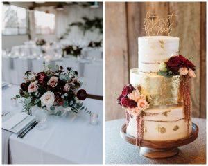 Bordowy kolor przewodni ślubu