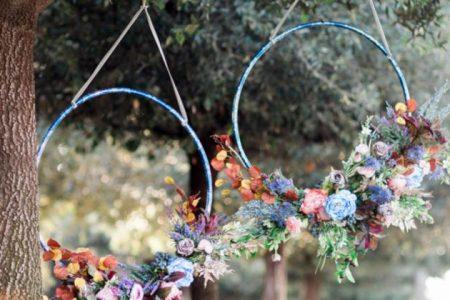 Ślubne dekoracje z hula hop