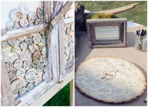 Dekoracje z plastrów drewna