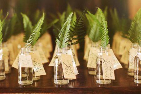 liście paproci na ślubie i weselu