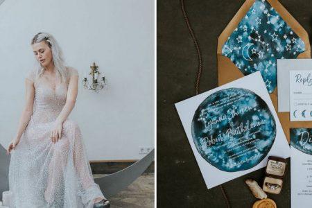 Księżycowy motyw przewodni ślubu i wesela